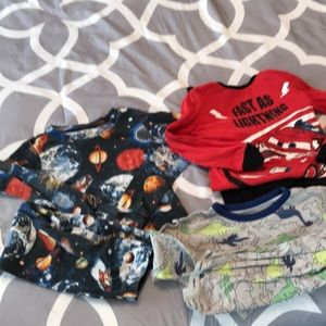 Bundle / lot of three long sleeved pajama sets